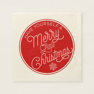 Have Yourself A Merry Little Christmas Disposable Napkins
