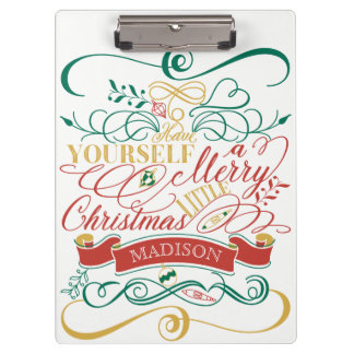 Have Yourself A Merry Little Christmas Typography Clipboard