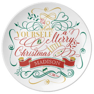Have Yourself A Merry Little Christmas Typography Plate