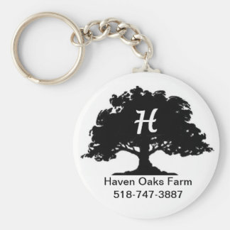 Haven Oaks Farm Keyring Basic Round Button Key Ring