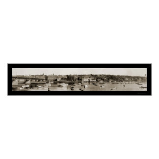 Haverhill Waterfront Photo 1910 Poster