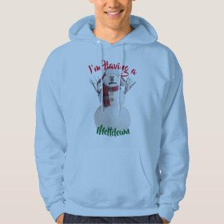 having a meltdown snowman funny christmas hoodie