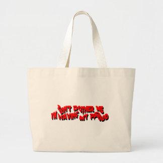 having my period jumbo tote bag