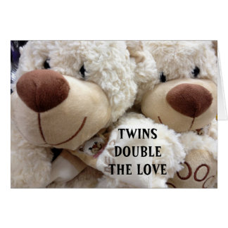 HAVING TWINS DOUBLES THE MEMORIES/JOY GREETING CARD