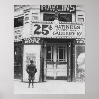 Havlin's Theatre, 1910. Vintage Photo Poster