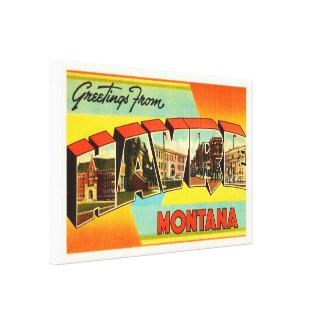 Havre Montana MT Old Vintage Travel Souvenir Canvas Print