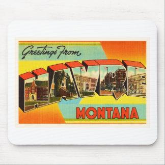 Havre Montana MT Old Vintage Travel Souvenir Mouse Pad