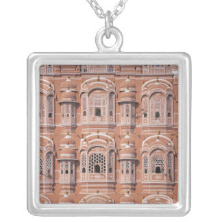 Hawa Mahal (Palace of Winds), Jaipur Silver Plated Necklace