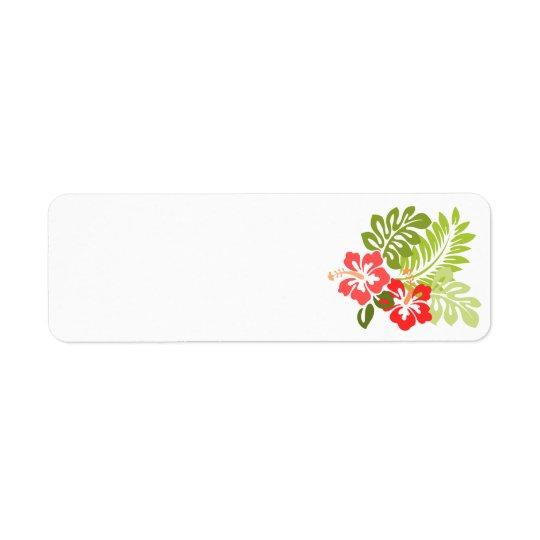 hawaii-309006  hawaii hibiscus flora floral flower return address label