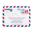 Hawaii Air Mail Wedding Save the Date 3x4 Magnet
