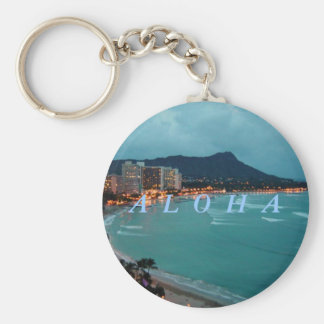 HAWAII ALOHA COLLECTION BASIC ROUND BUTTON KEY RING