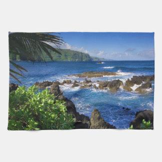 Hawaii Beach Scenery Tea Towel