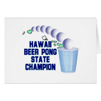 Hawaii Beer Pong Champion Greeting Card