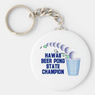 Hawaii Beer Pong Champion Keychains