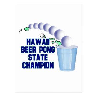 Hawaii Beer Pong Champion Postcards