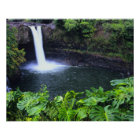 Hawaii, Big Island, Hilo, Rainbow Falls, Lush Poster