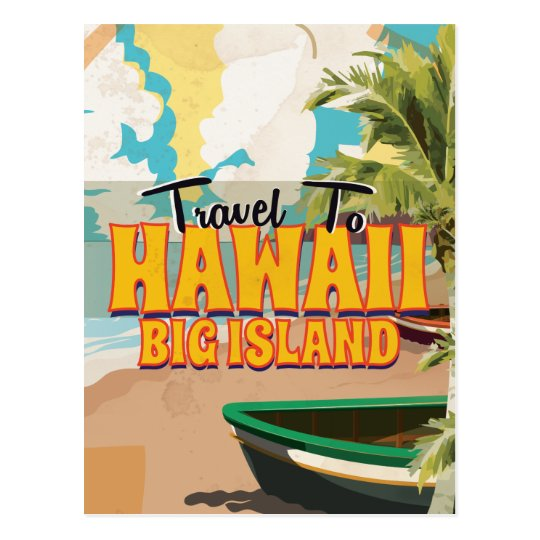 Hawaii Big Island Wedding Vintage Travel poster Postcard