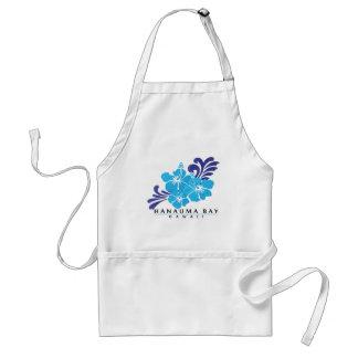 Hawaii Blue Hibiscus Flower Standard Apron