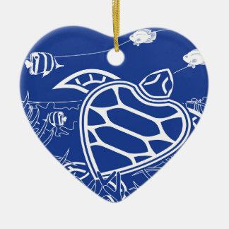 Hawaii Blue Turtle Christmas Ornament