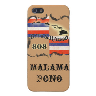 Hawaii Born & Raised (Choose the Background Color) Case For The iPhone 5