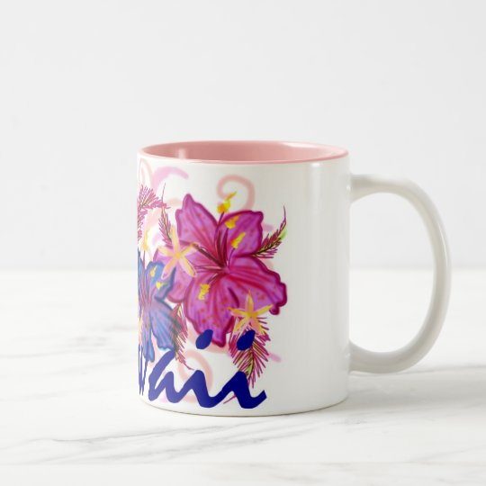 Hawaii colourful flowers artistic coffee mug