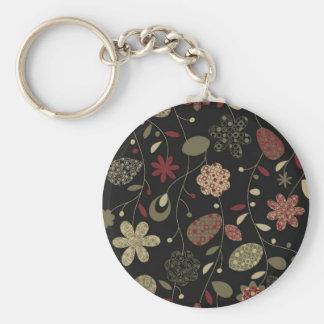 Hawaii dazzles basic round button key ring