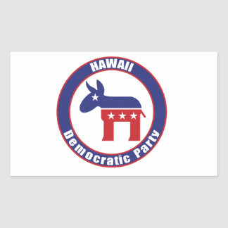 Hawaii Democratic Party Rectangle Sticker