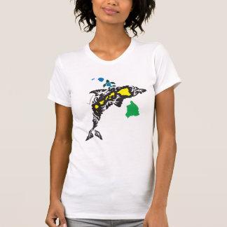 Hawaii Dolphin and Hawaii Islands 402 T-Shirt