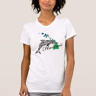 Hawaii Dolphin and Hawaii Islands 406 T-Shirt