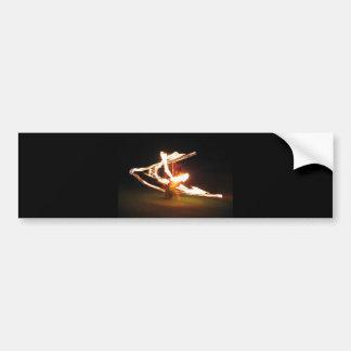 Hawaii Fire Dance Bumper Sticker