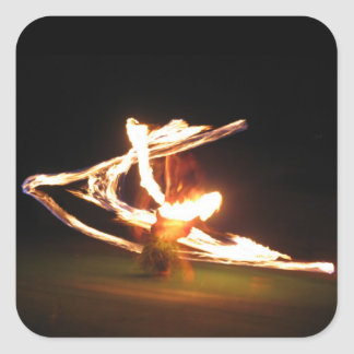 Hawaii Fire Dance Square Sticker