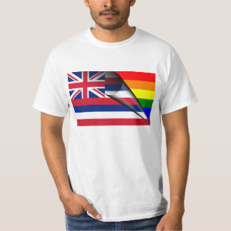 Hawaii Flag Gay Pride Rainbow T-Shirt