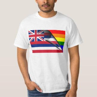 Hawaii Flag Gay Pride Rainbow Tshirts