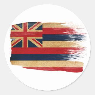 Hawaii Flag Round Sticker