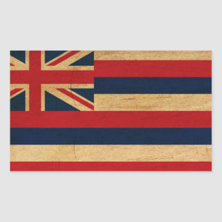 Hawaii Flag Rectangle Stickers