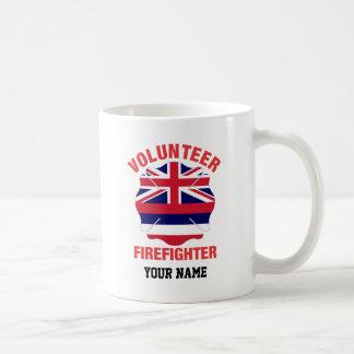 Hawaii Flag Volunteer Firefighter Cross Classic White Coffee Mug