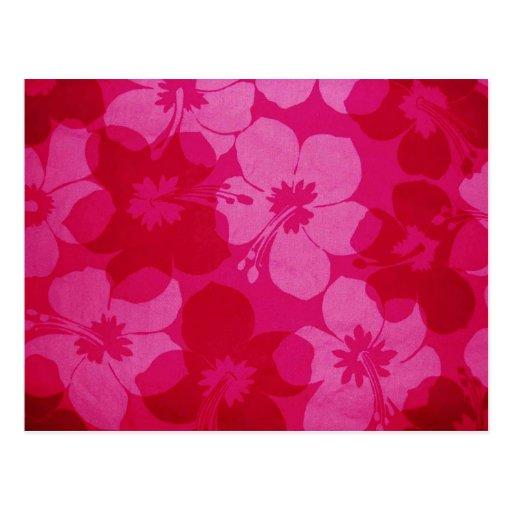Hawaii flower postcards