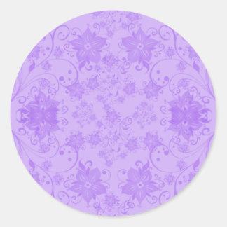 Hawaii flowers classic round sticker