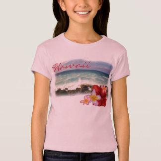 Hawaii flowers girls shirt