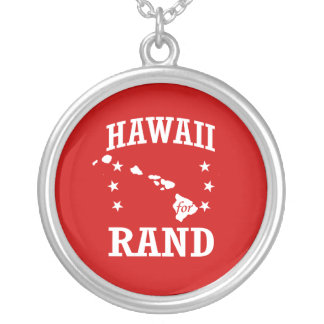 HAWAII FOR RAND PAUL ROUND PENDANT NECKLACE