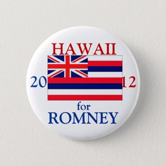 Hawaii for Romney 2012 6 Cm Round Badge