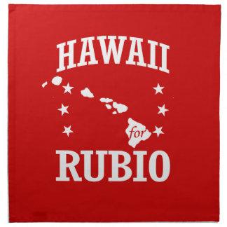 HAWAII FOR RUBIO PRINTED NAPKIN