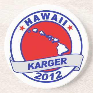 Hawaii Fred Karger Drink Coaster