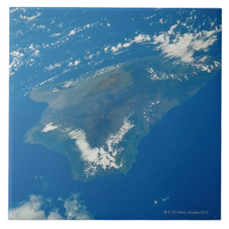 Hawaii from Space Large Square Tile
