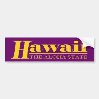 Hawaii Gold Bumper Sticker