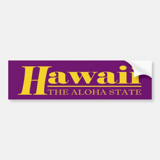 Hawaii Gold Bumper Sticker