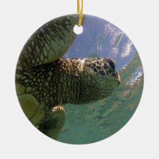 Hawaii Green Sea Turtle Christmas Ornament