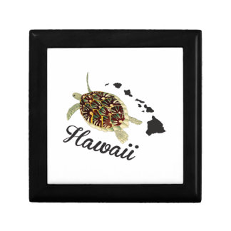 Hawaii Green Sea Turtle Small Square Gift Box