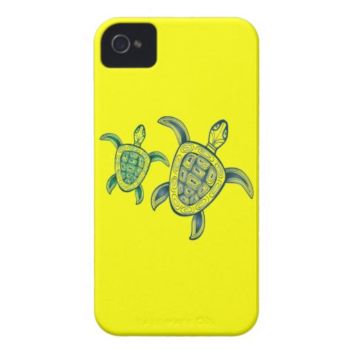 Hawaii Green Sea Turtles Case-Mate iPhone 4 Cases