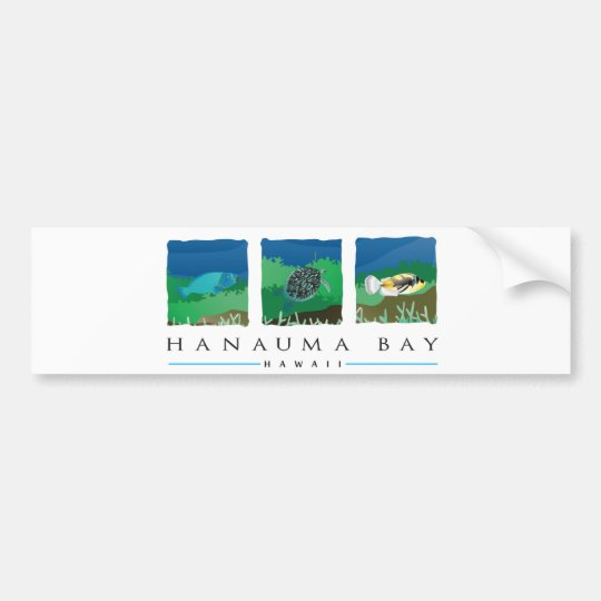 Hawaii Hanauma Bay Bumper Sticker